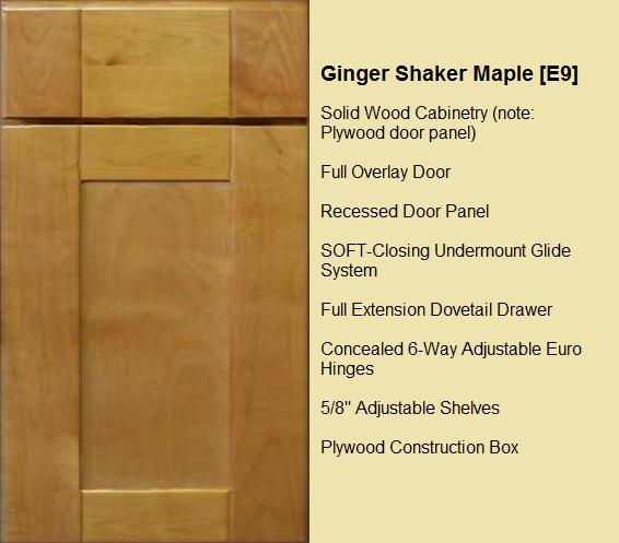 Ginger Shaker Maple