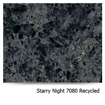 Bold black starry night 7080 recycled